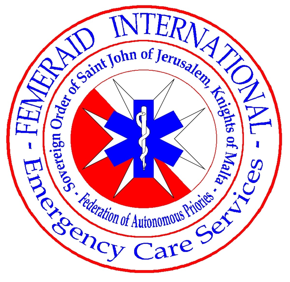Femeraid International Logo. Sovereign Order of St. John of Jerusalem, Knights of Malta.
