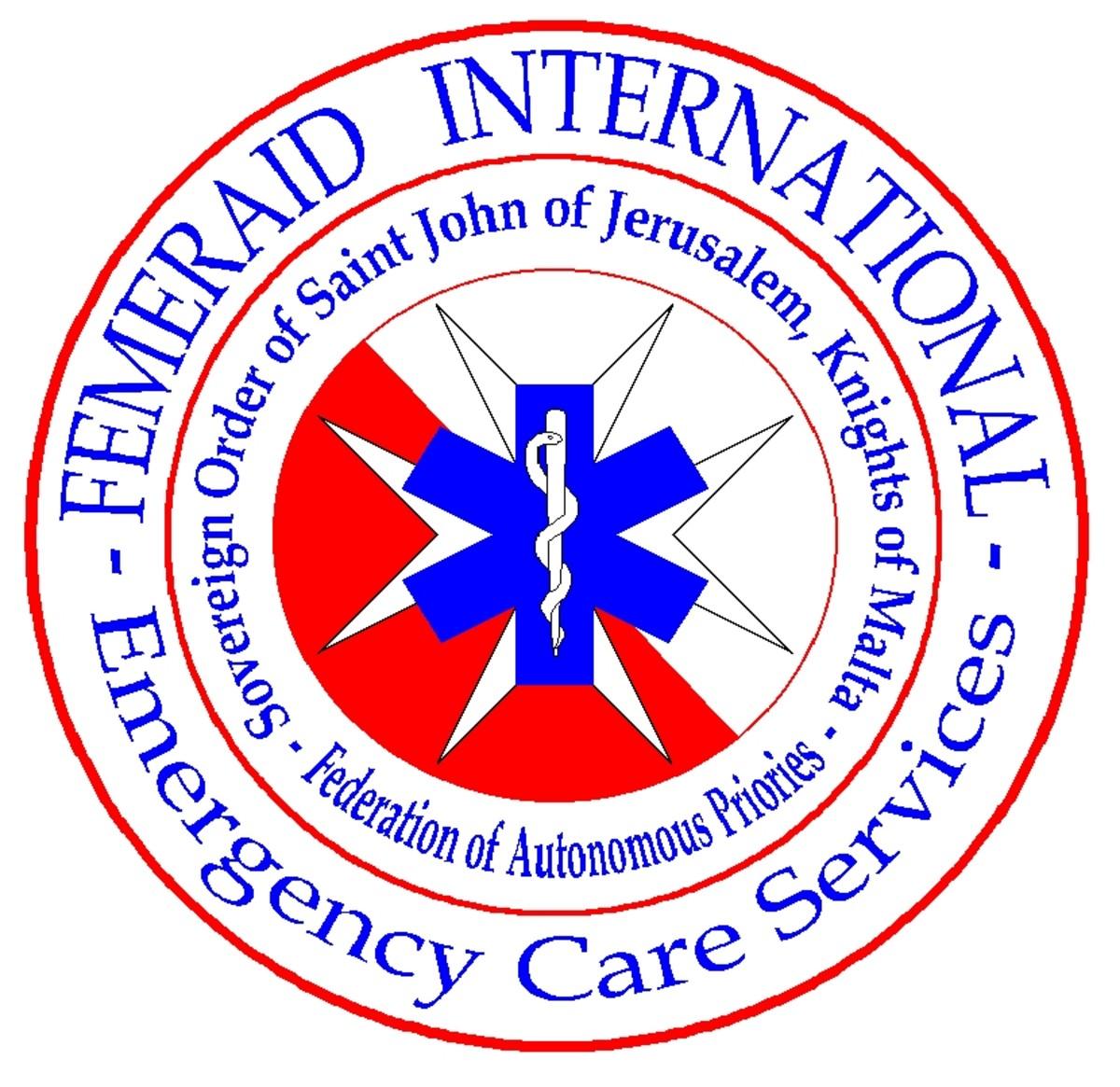 Femeraid International Logo. Sovereign Order of St. John of Jerusalem, Knights of Malta.