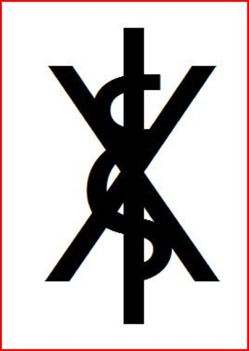The 666 symbol from John in Revelation.