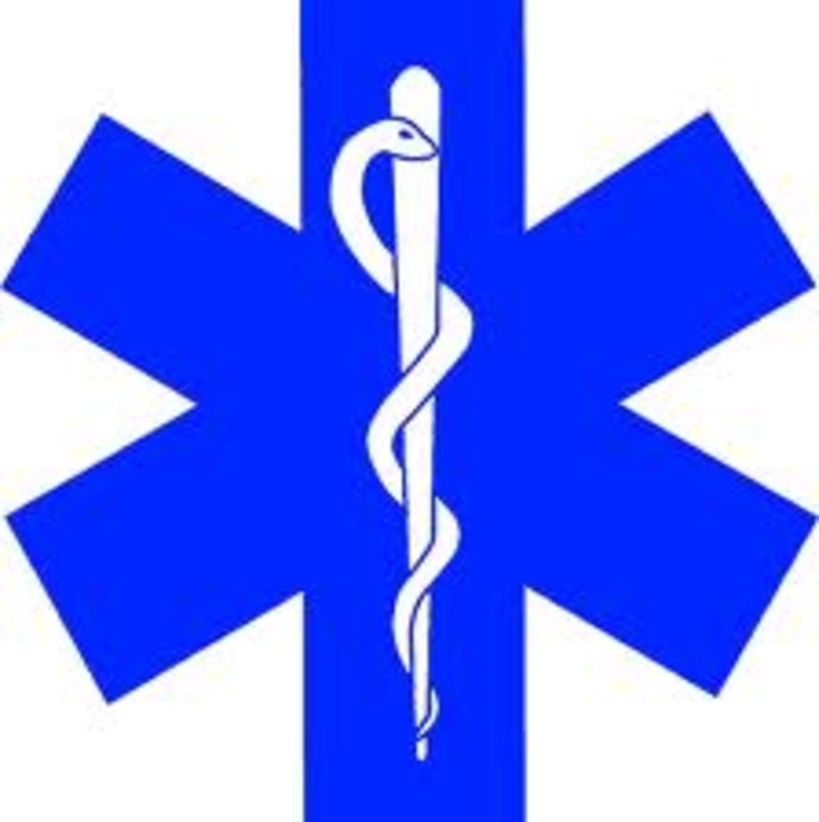 St.John's 666 symbol, used by the Emergency Medical Services as their symbol. It is commonly seen on ambulances and paramedic badges. It is also called ' the star of life '