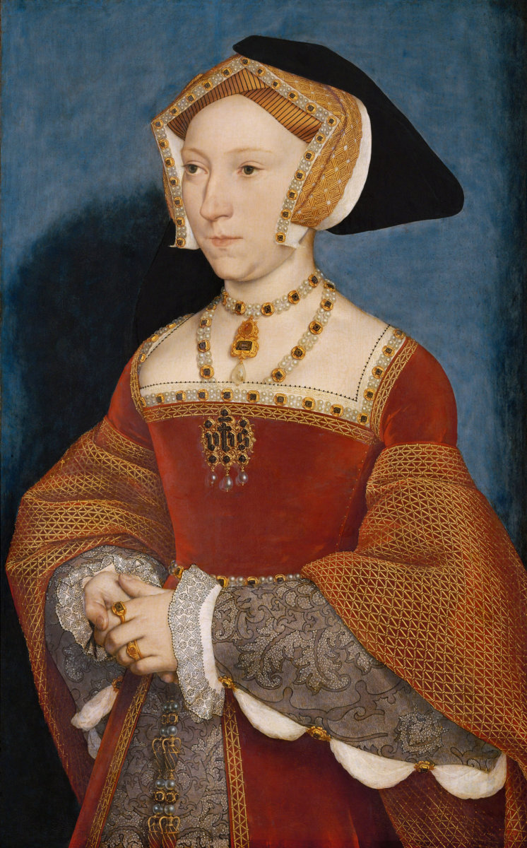 Portrait of Jane Seymour (1508-1537), Henry VIII's third wife. by Hans Holbein the Younger [Public domain] Tempera on panel