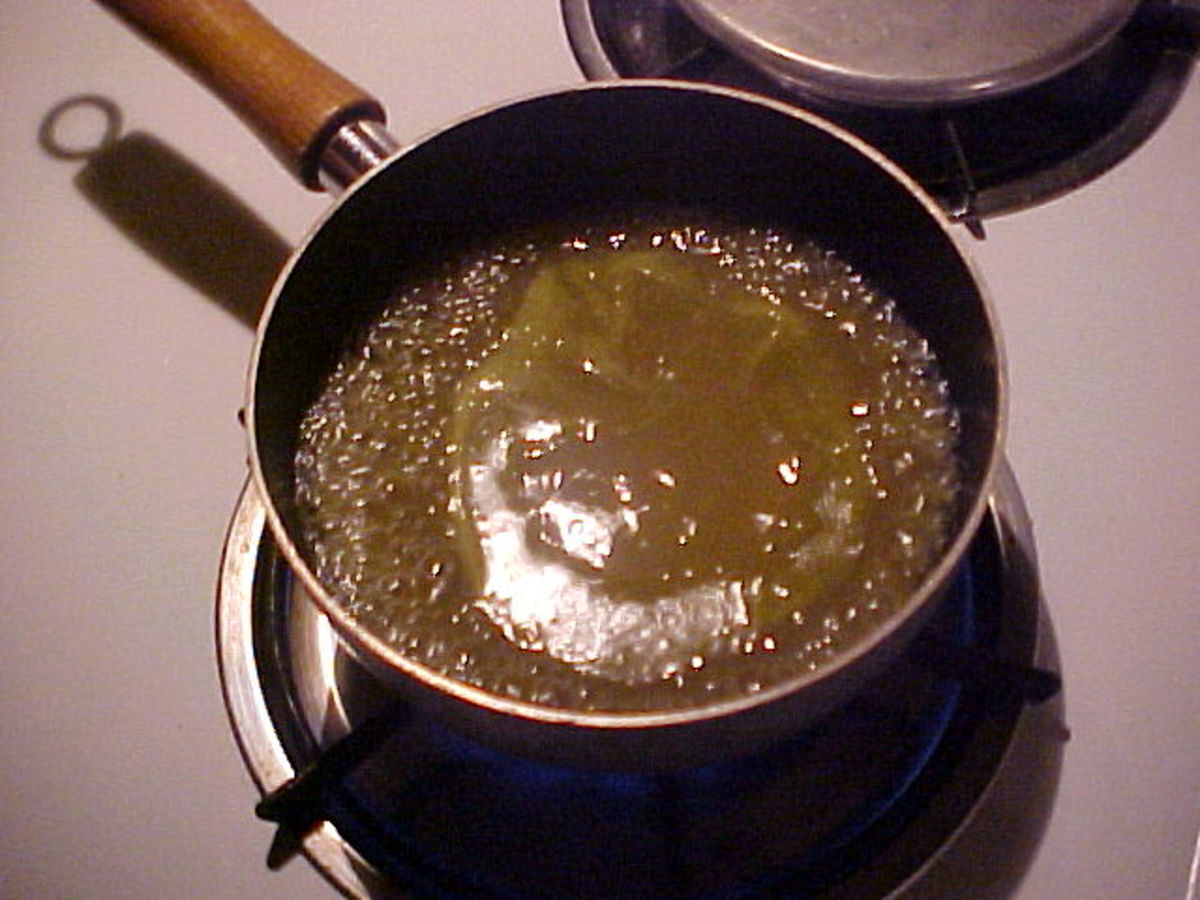 Heating The Green Enchilada Sauce