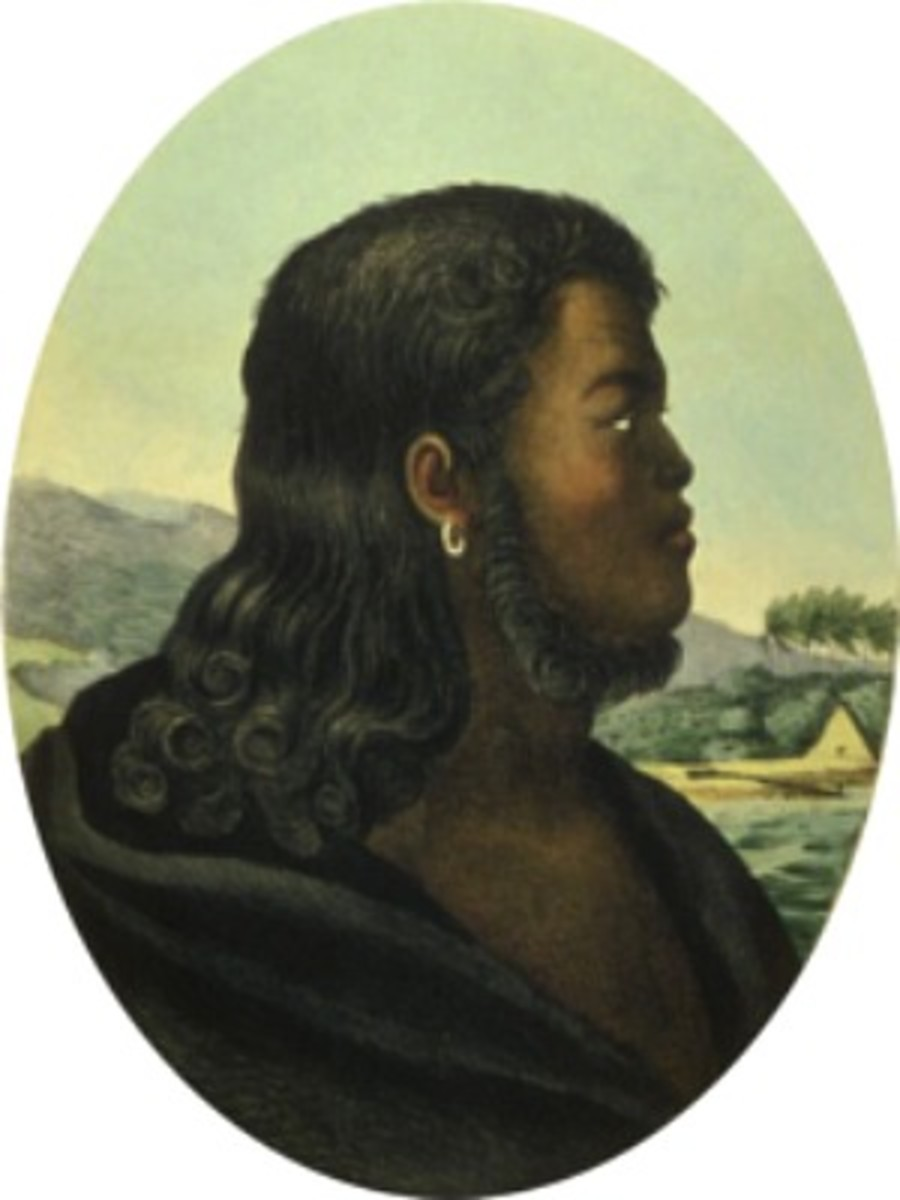 William Pitt Kalanimoku  - Kamehameha I's Chief Minister And Treasurer led army against the revolt of Kekua o`kalani at the battle of Kuamoʻo