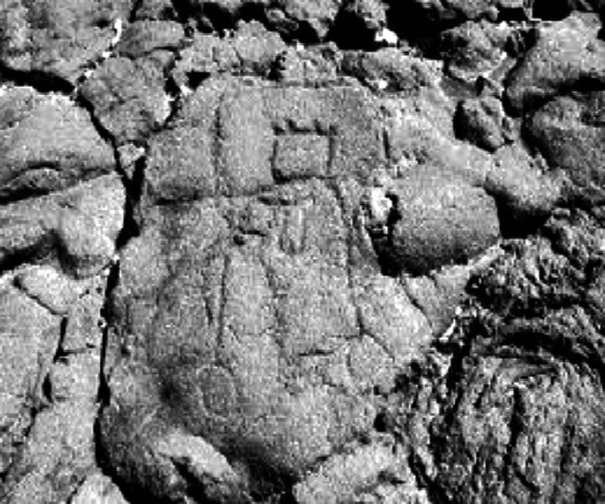 Petroglyph depicting dead Maui Chief