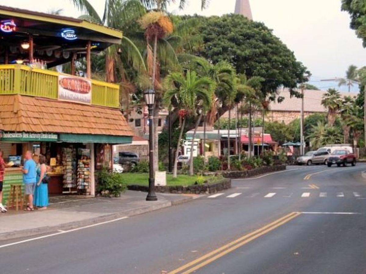 Downtown Kailua-Kona Hawaii