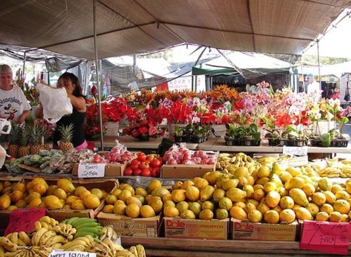 Kailua-Kona Hawaii Shops at the Farmers Market