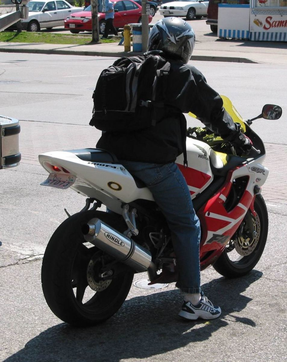 Riding a sportbike is a ton of fun