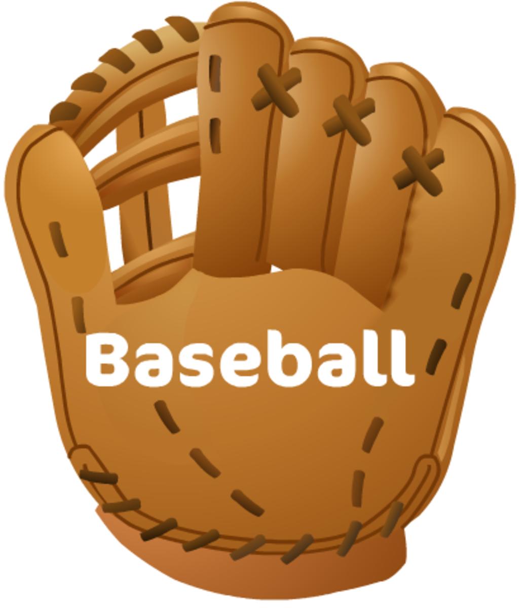 "Baseball clip art: baseball glove with ""Baseball"" text"