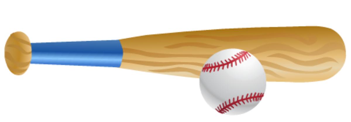 Free baseball bat clip art: bat and ball vertical