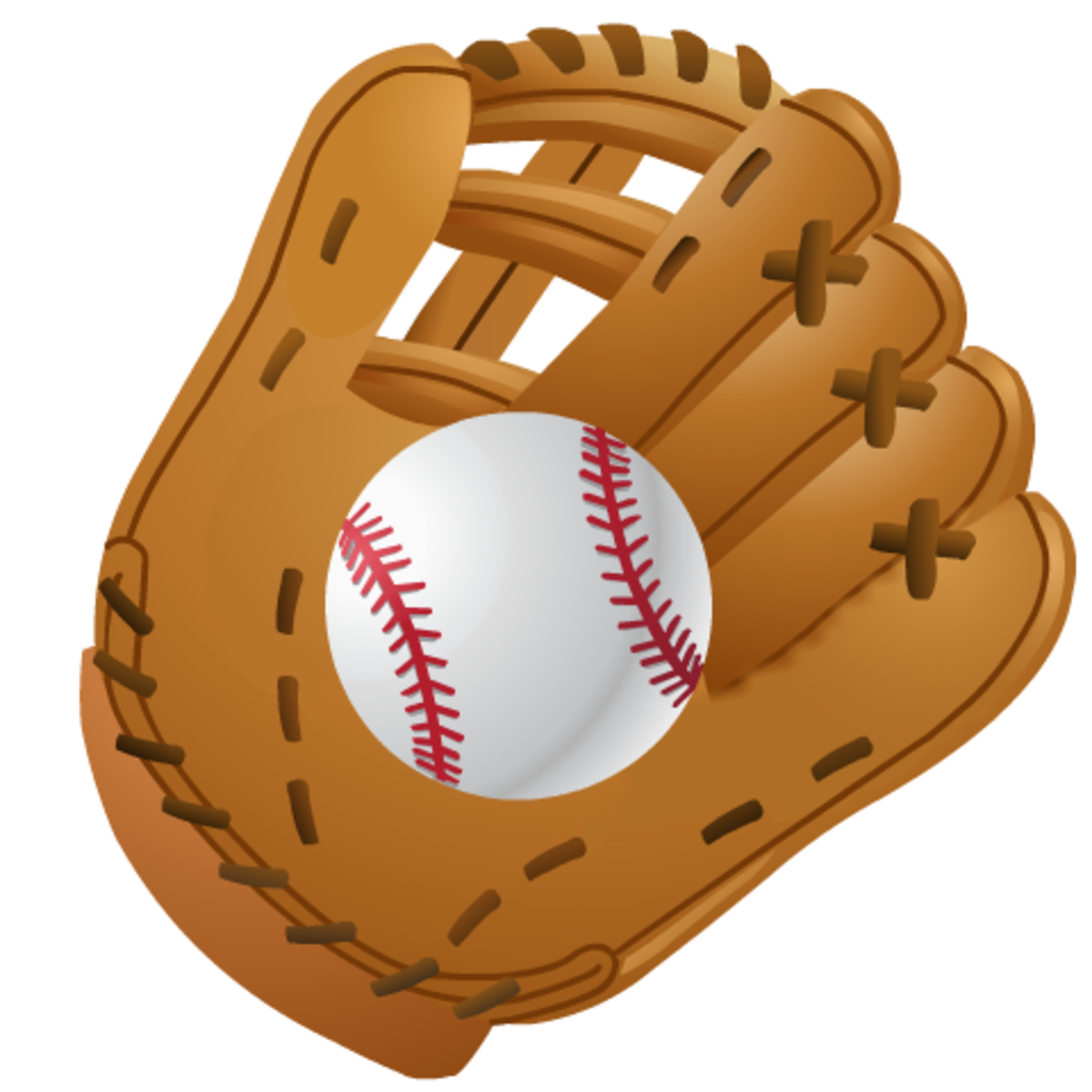 Softball clip art: baseball glove and ball