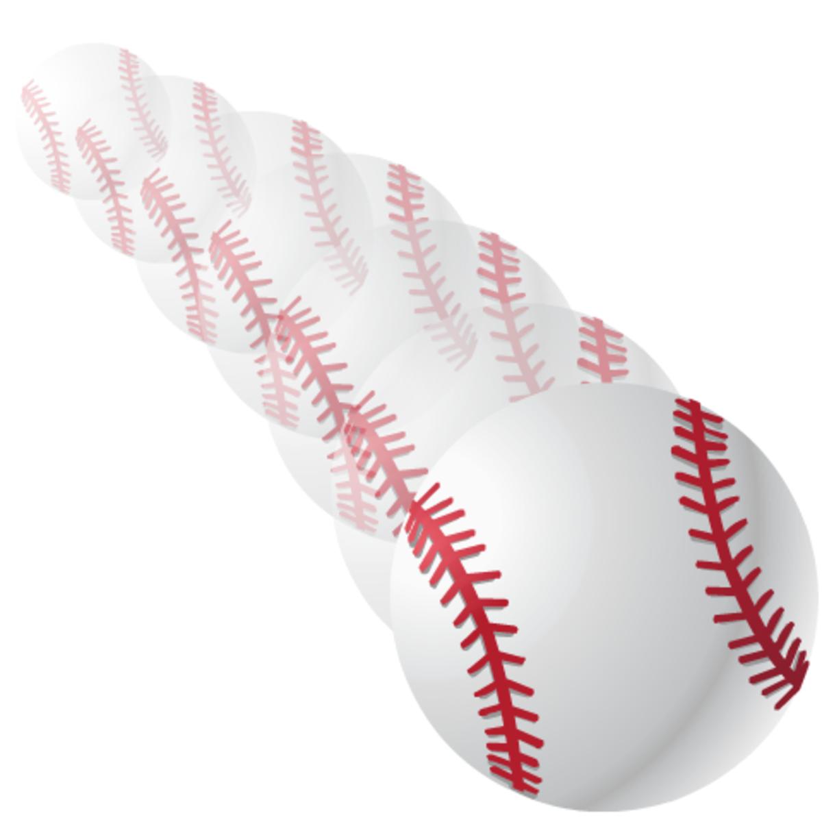 Baseball image: flying baseball