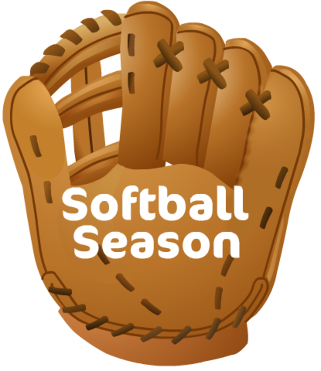 "Softball clip art: softball glove and ""Softball Season"" text"