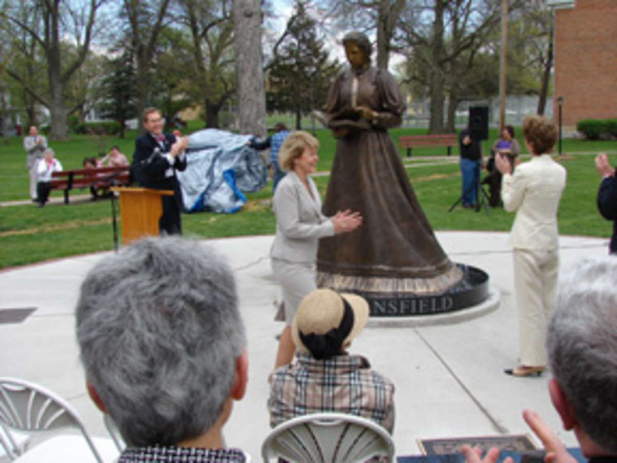 The Statue Honors Mansfield's Accomplishments As Well As To Honor And Highlight The Accomplishment Of Women And To Encourage Professional Empowerment.