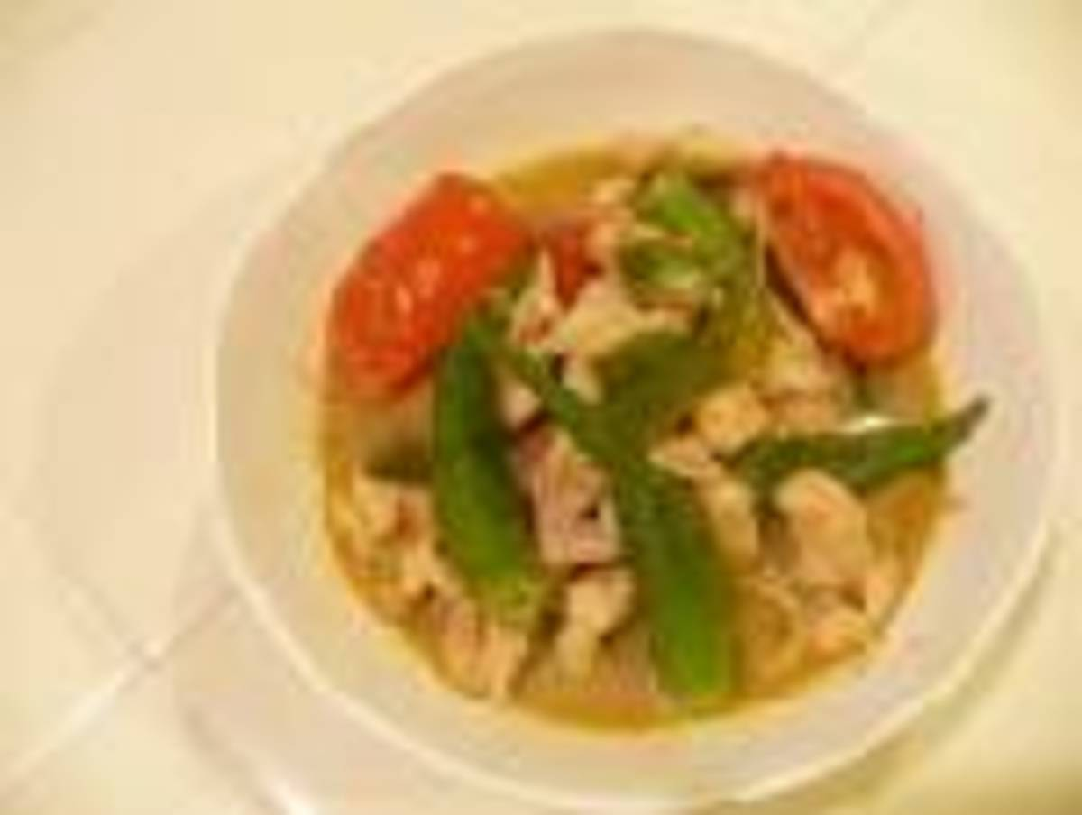 Thai Green Curry With Chicken and Lemon Grass