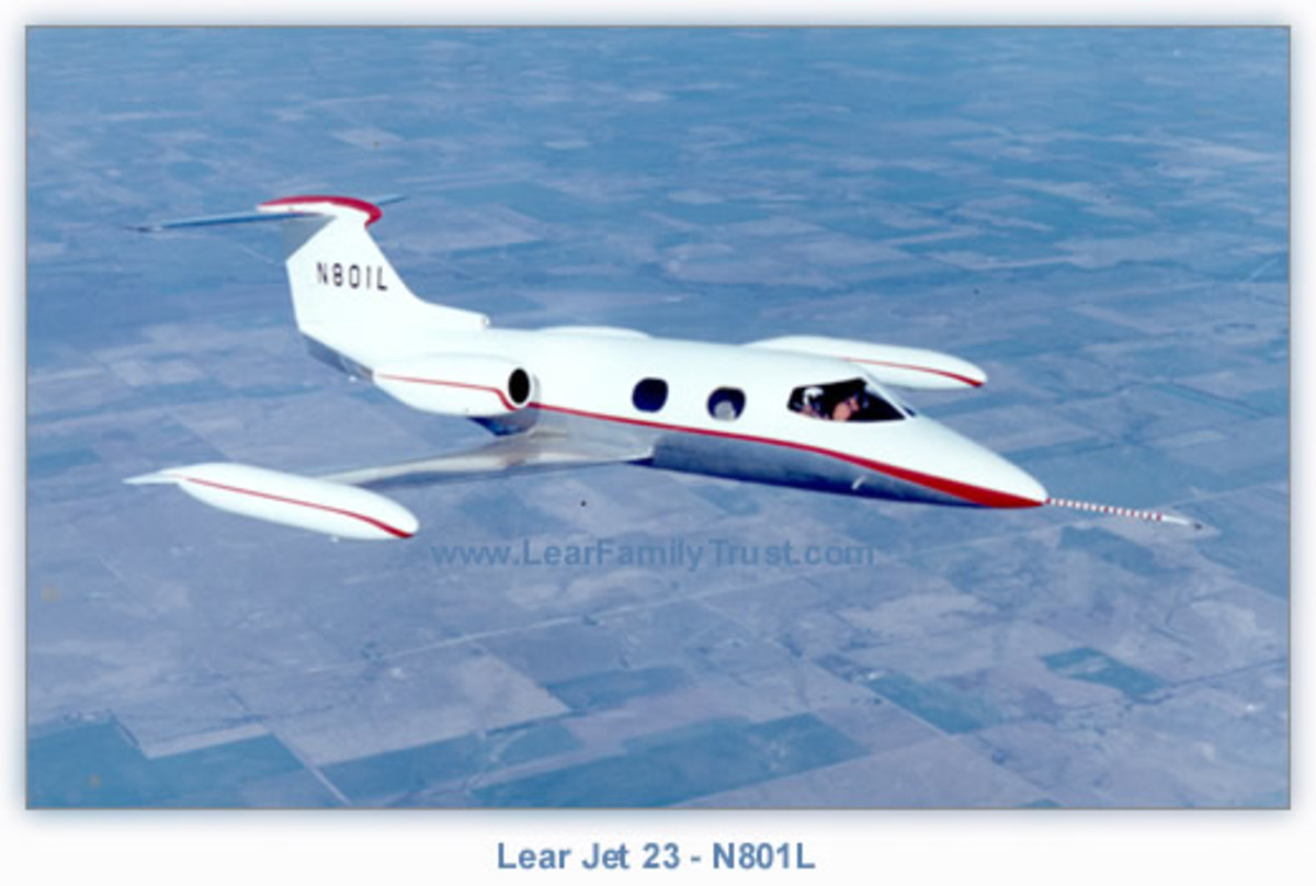 LEARJET 23 SERIAL NUMBER 001