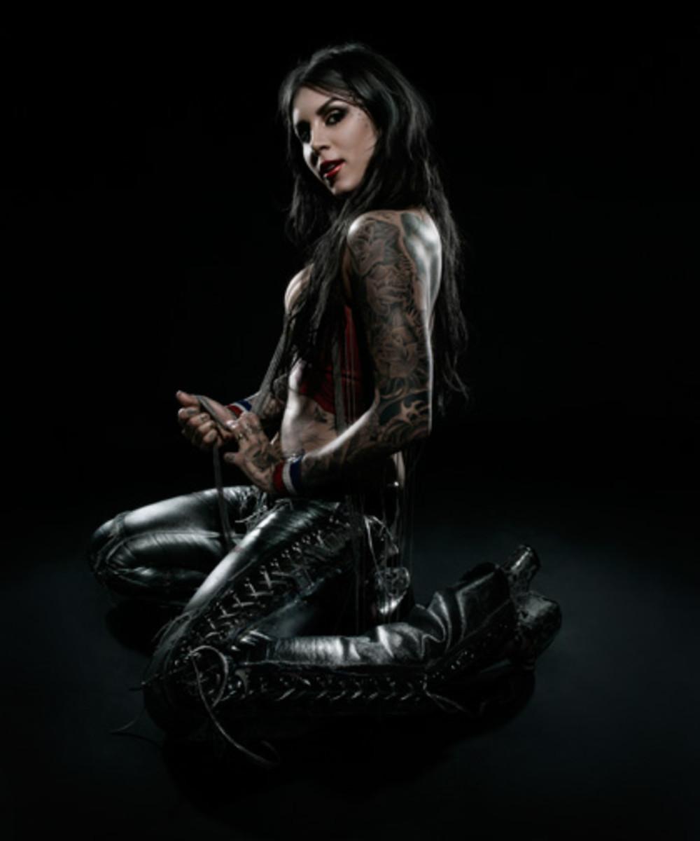 Kat Von D in Gothic, Western Look