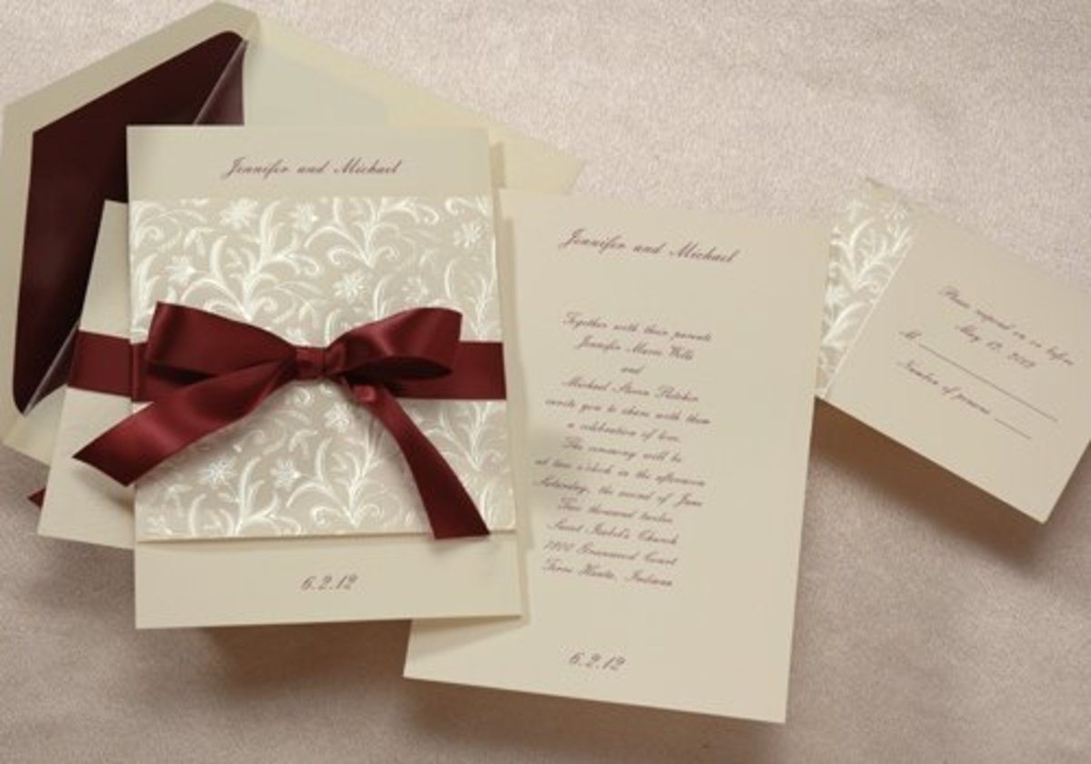 Bi-fold wedding invitation