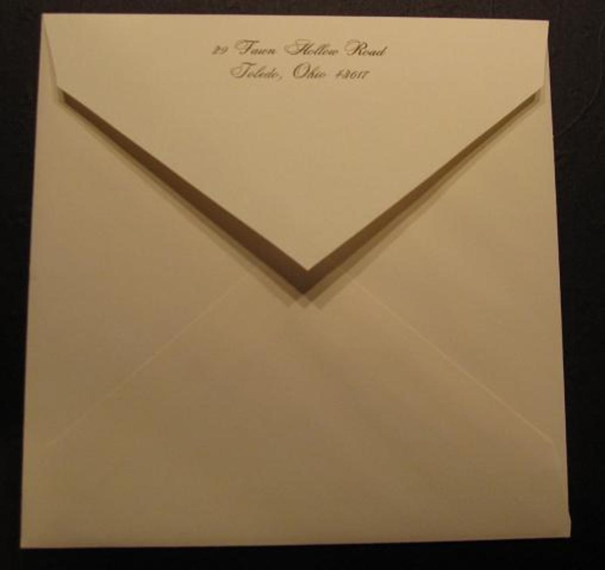 Pocket outer envelope