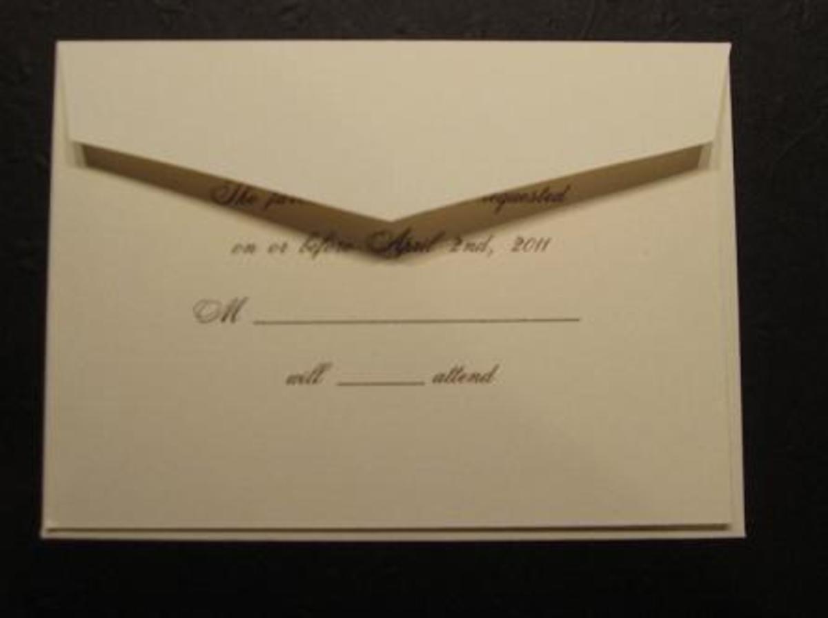 Pocket response card envelope