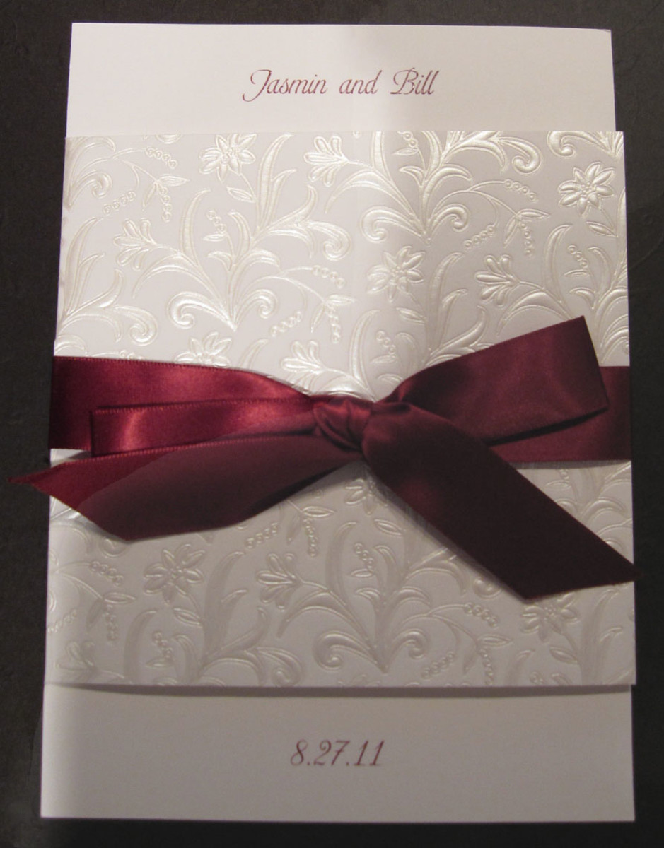Bi-fold wedding card