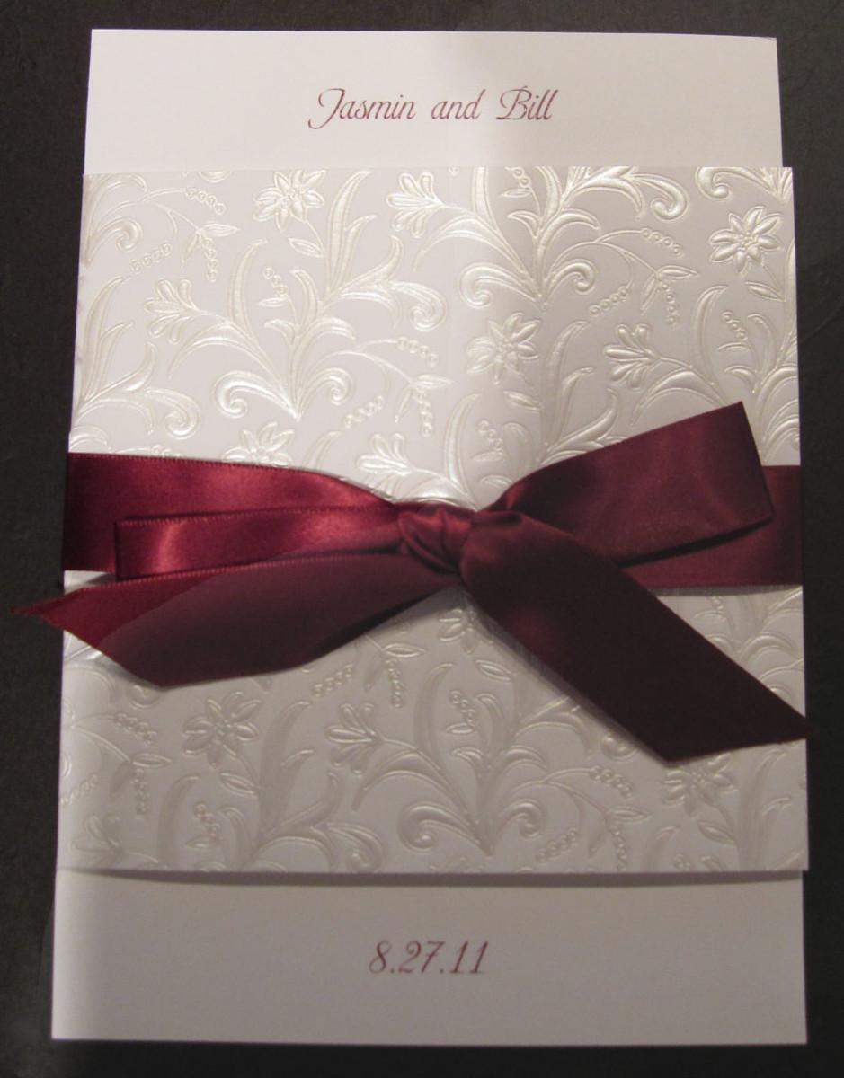 Bi-fold wedding card