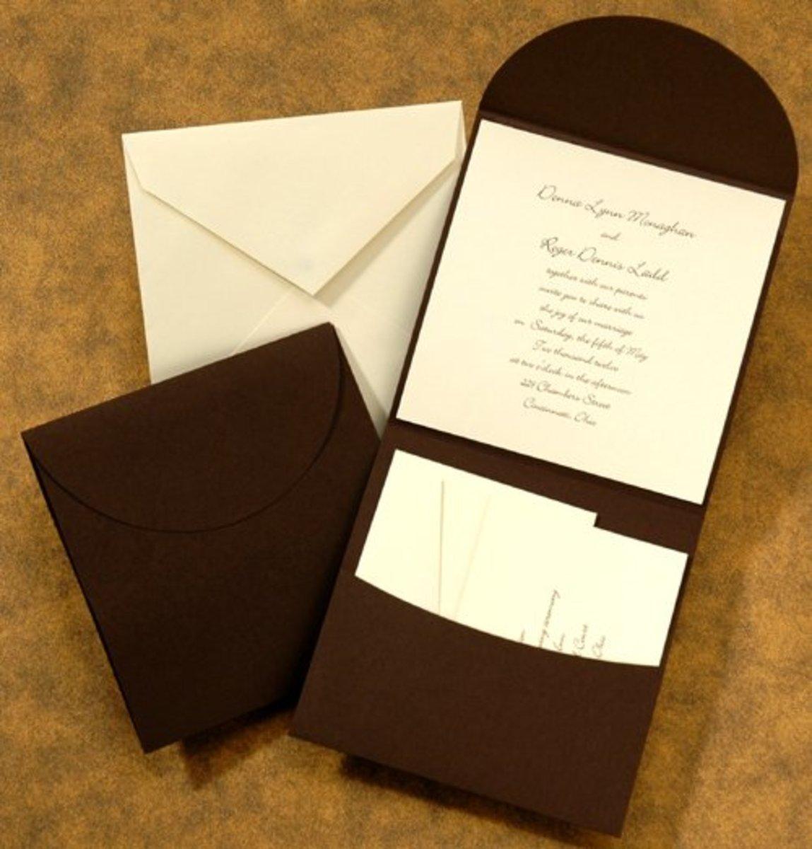 Pocket invitation ensemble