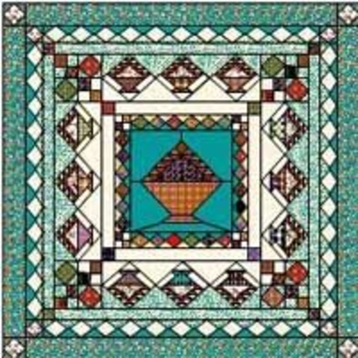 The basket quilt plan in early version of EQ