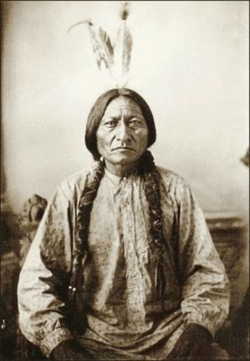 Chief Sitting Bull, a Plateau Indian
