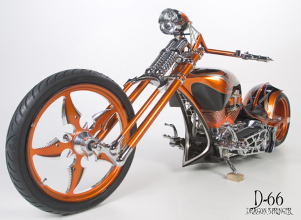 Custom Chopper with Springer Forks