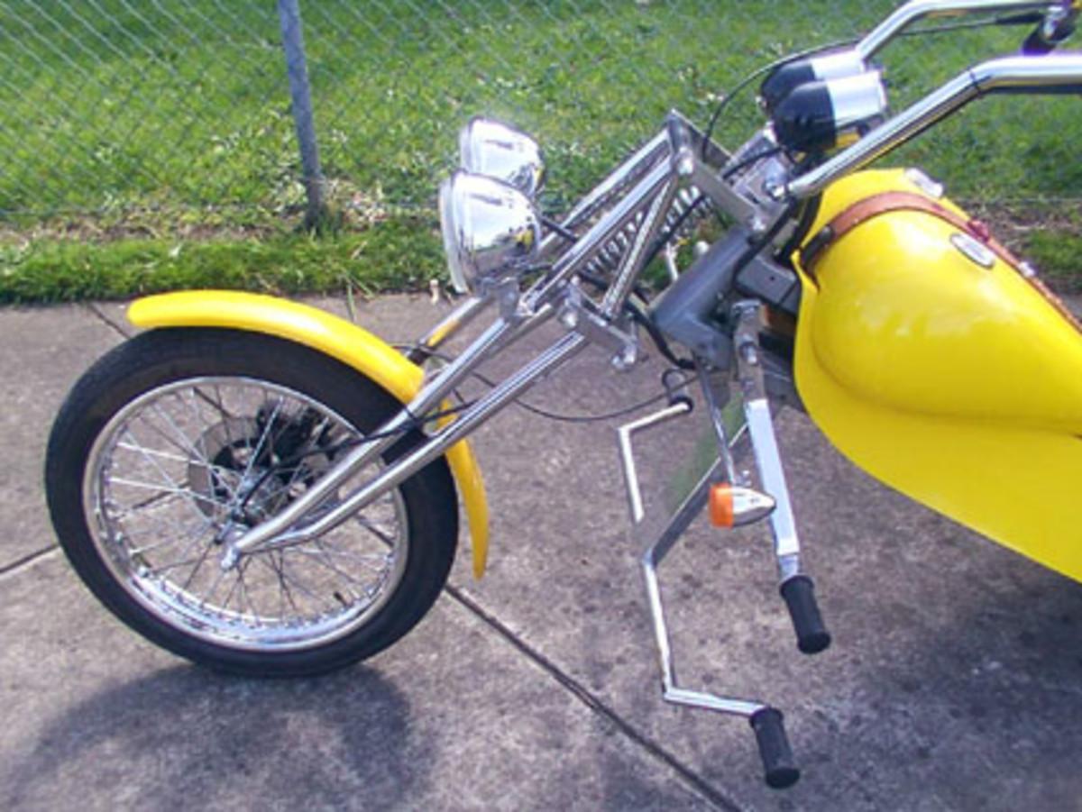 Custom Chopper with Girder Forks