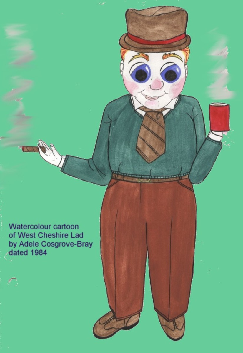"""Contrary to the depiction here, """"T"""" often wore the same blue tie and jumper.  He often joked, """"When I'm out, the wardrobe is out!"""""""