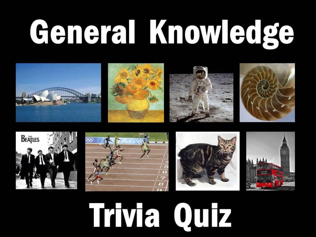 General Knowledge Trivia Quiz | HubPages