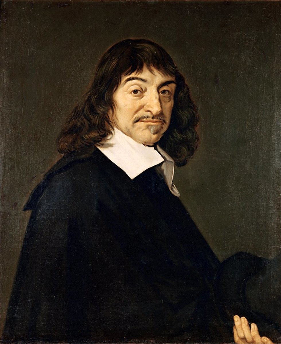 "Descartes is known for two main ideas, his discovery of the Cartesian coordinate system, which bridged algebra and geometry and his ""Cogito ergo sum"", I think, therefore I am."