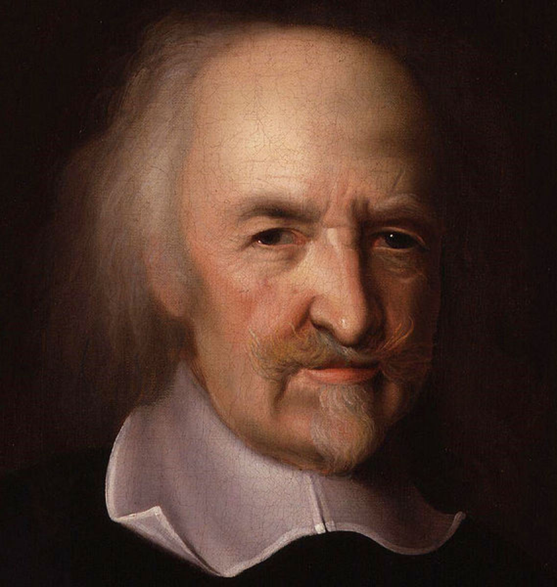 Hobbes was a major proponent of the social contract theory of societal organization.  His philosophy was written during and influenced by the English Civil War.
