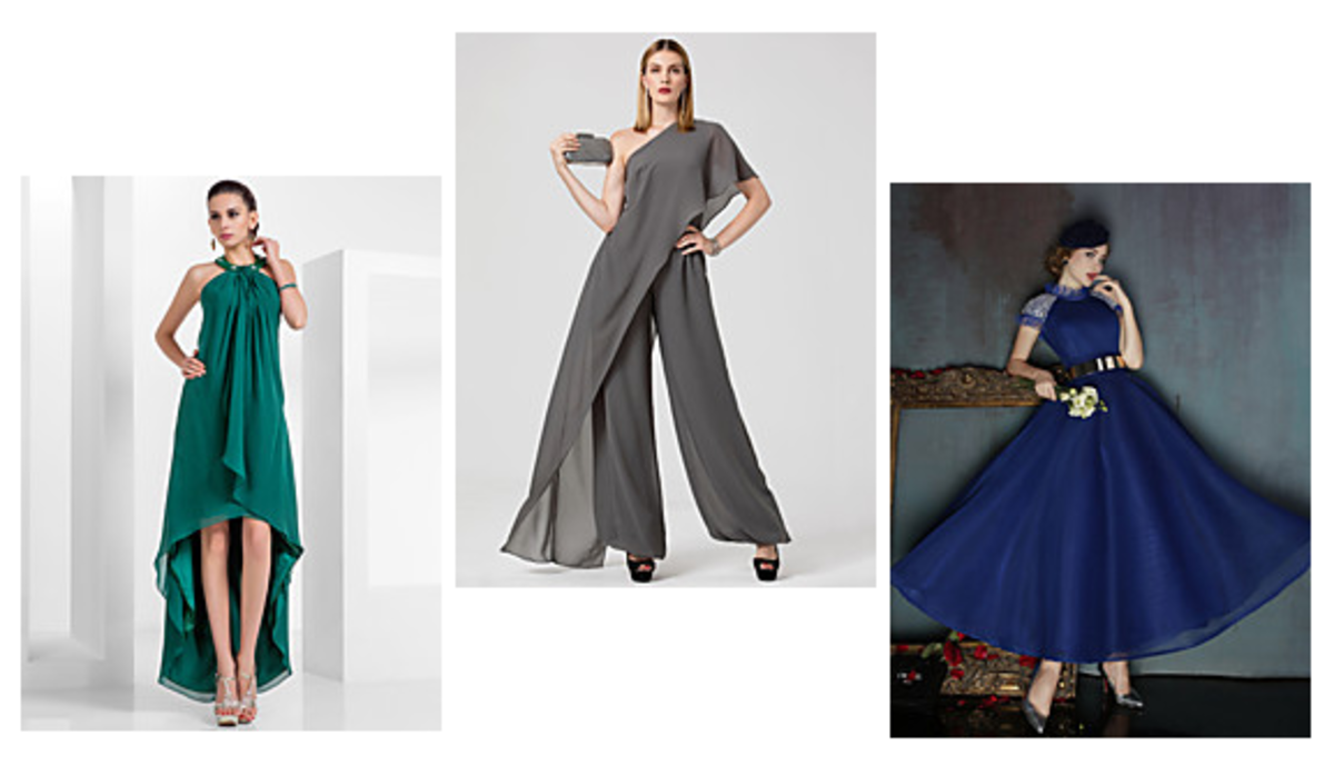 Less formal dresses for the bride's mother. These outfits are great for younger mothers who are quite comfortable with wearing something simple but chic.