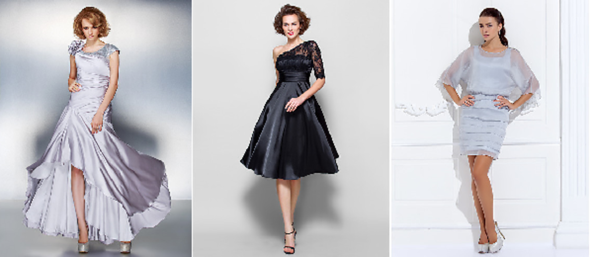 Youthful Styles - Short, Knee, and Ankle Length Dresses for the Bride's Mother
