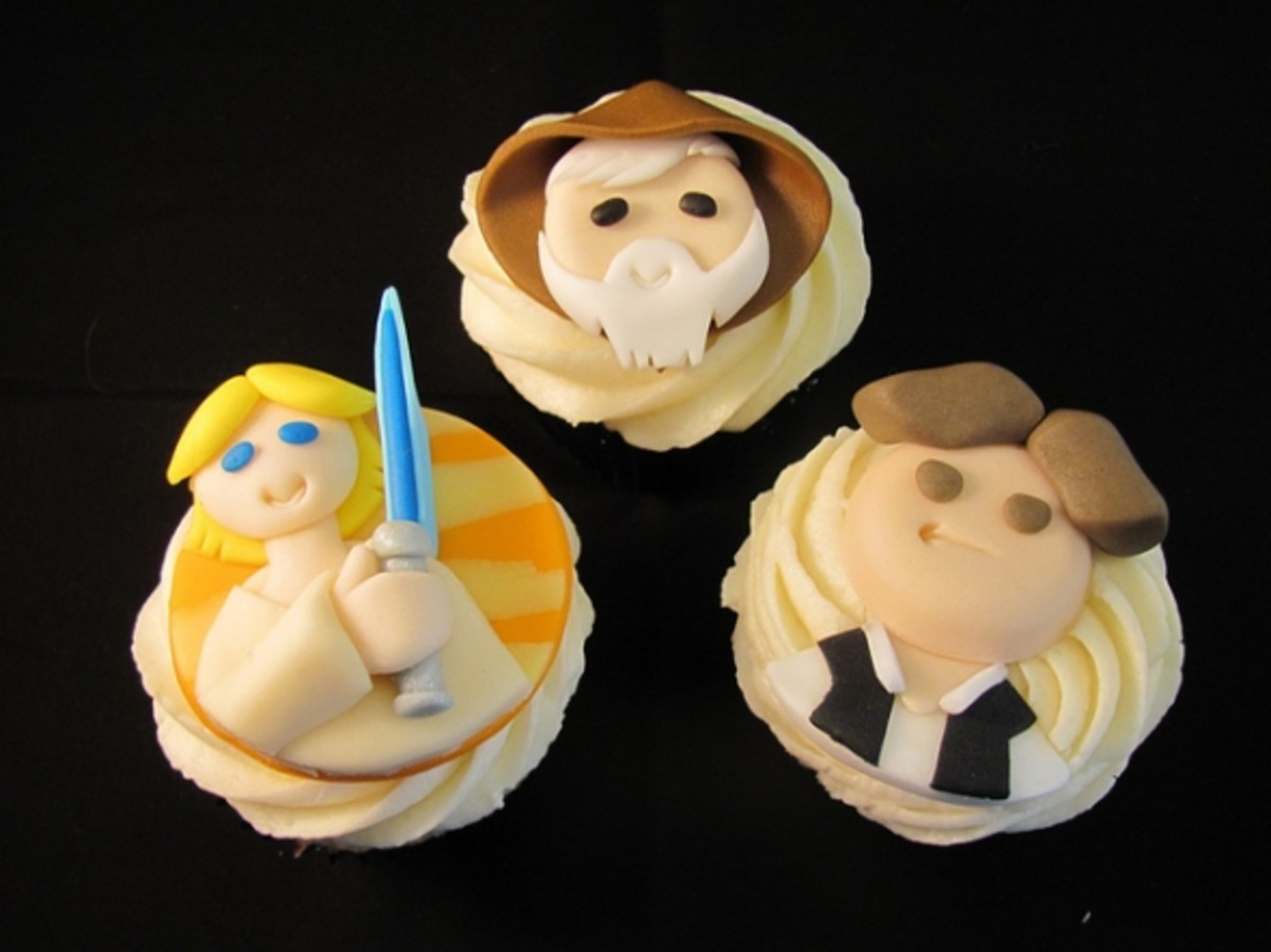 Luke, Obi Wan, Han Cupcakes by Melissa Smith aka Zoeycakes on Flickr.com