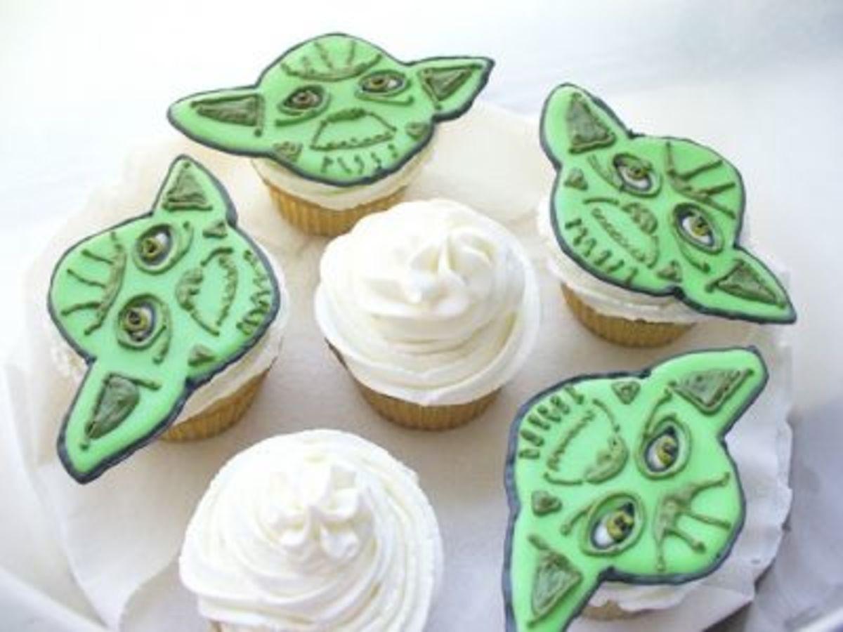 Epic Yoda Cupcakes