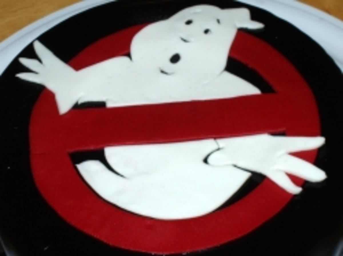 Ghostbusters fondant birthday cake