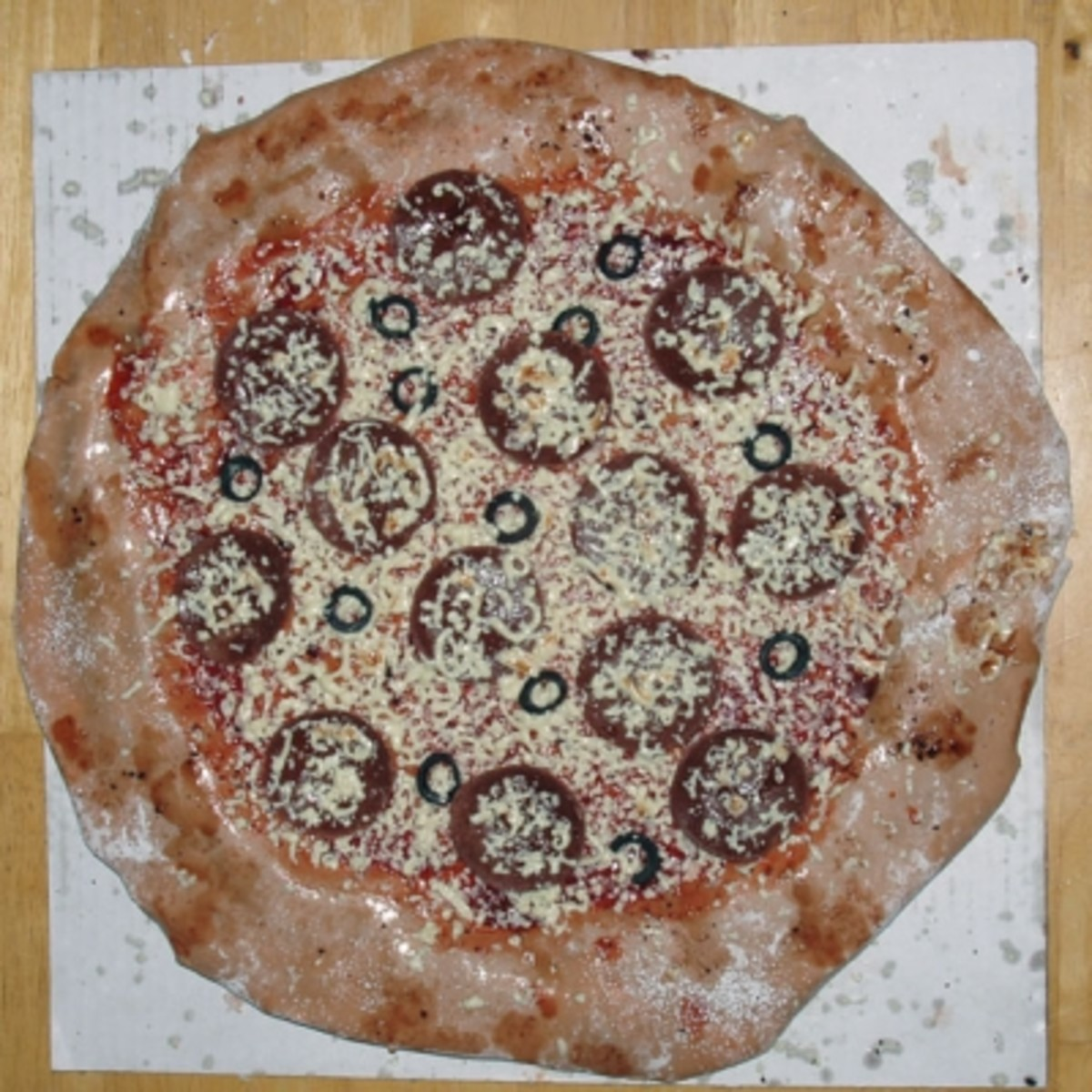 Top View of the Pizza Cake Without Box