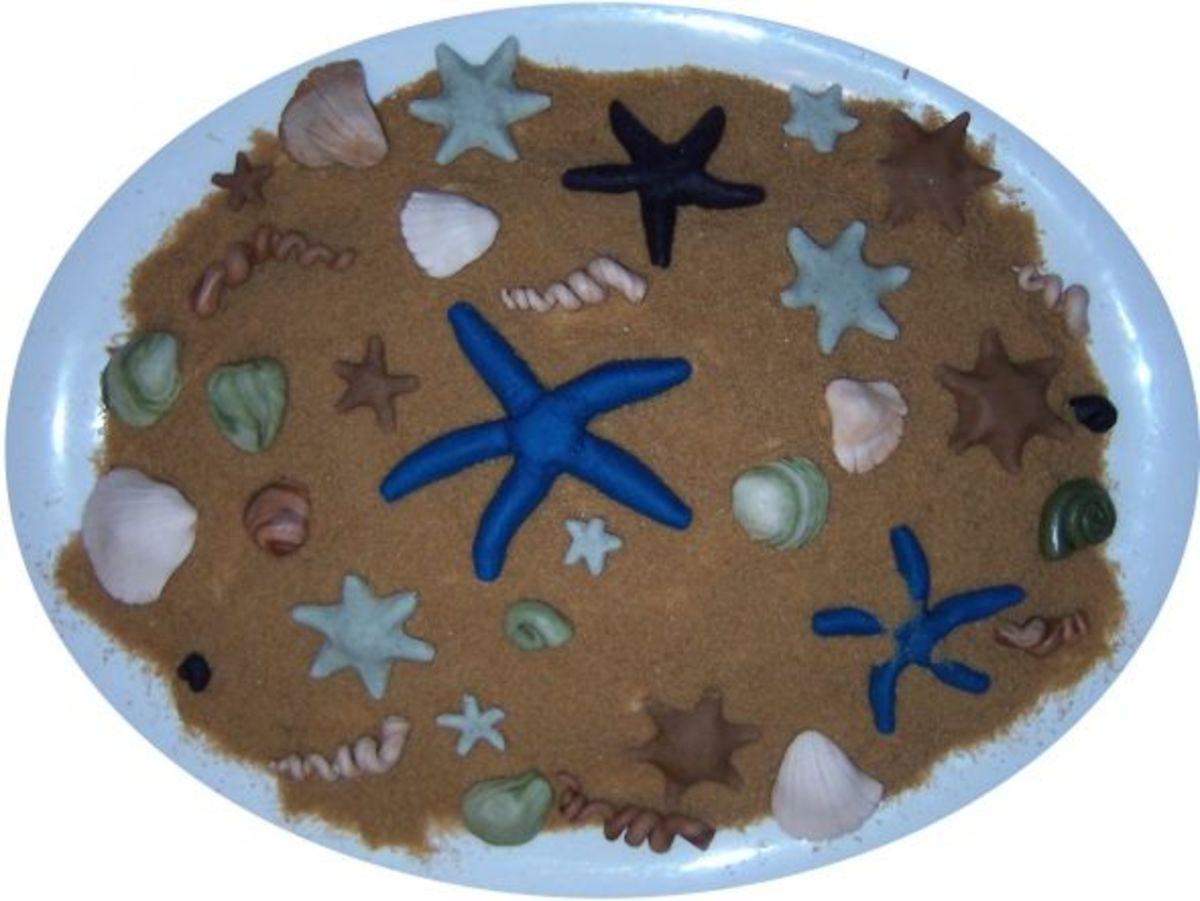 Sugar sandy beach with sweet starfish