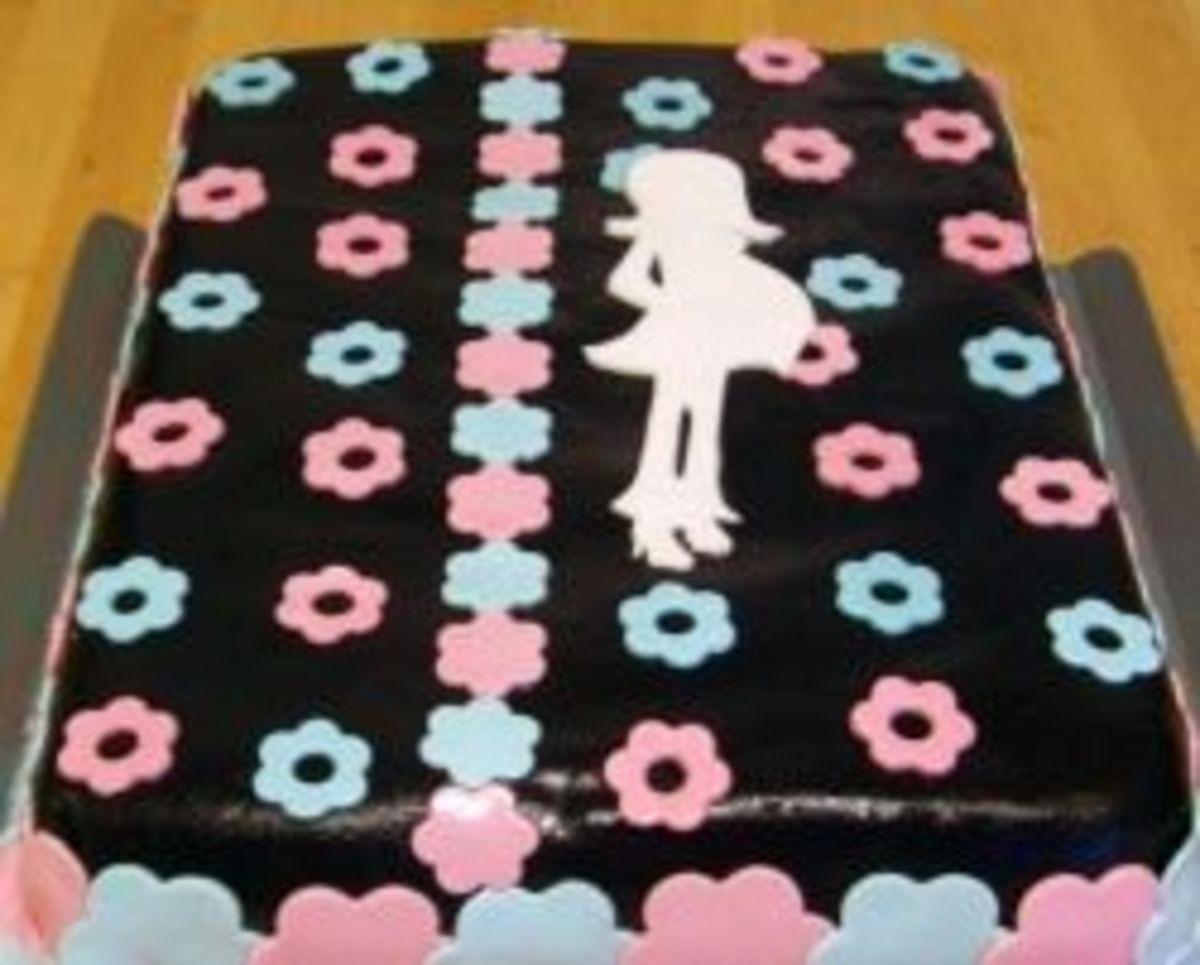 Trendy Mommy baby shower cake