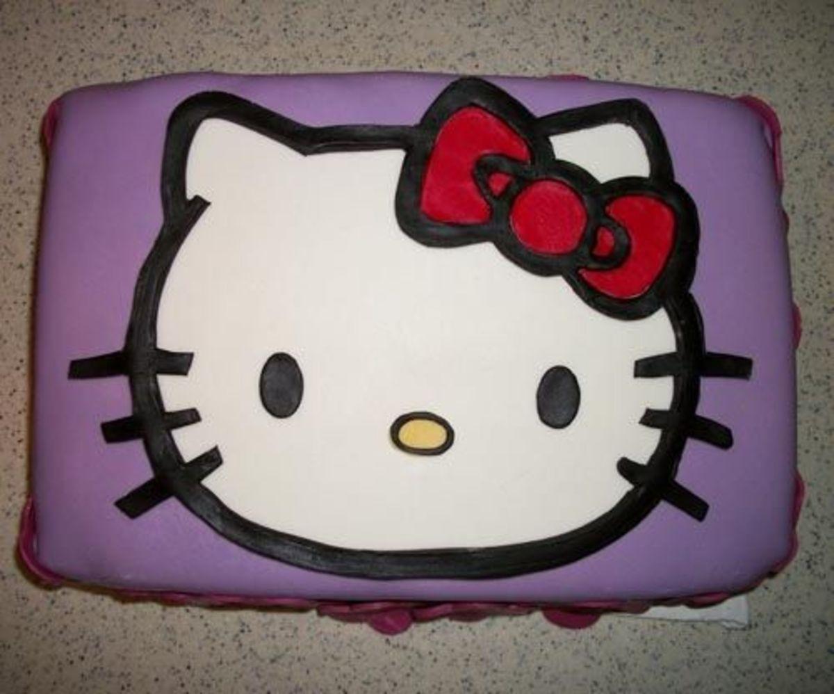 Hello Kitty fondant cake and photo by Kylyssa Shay