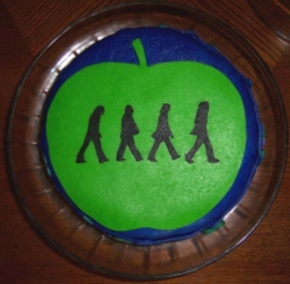 Beatles Abbey Road Fondant Cake I made for my partner's 40th birthday.