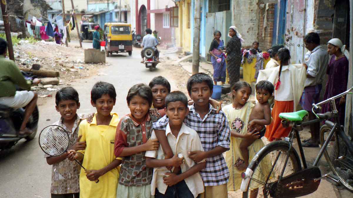 Kids in Cochin, Kerala, India