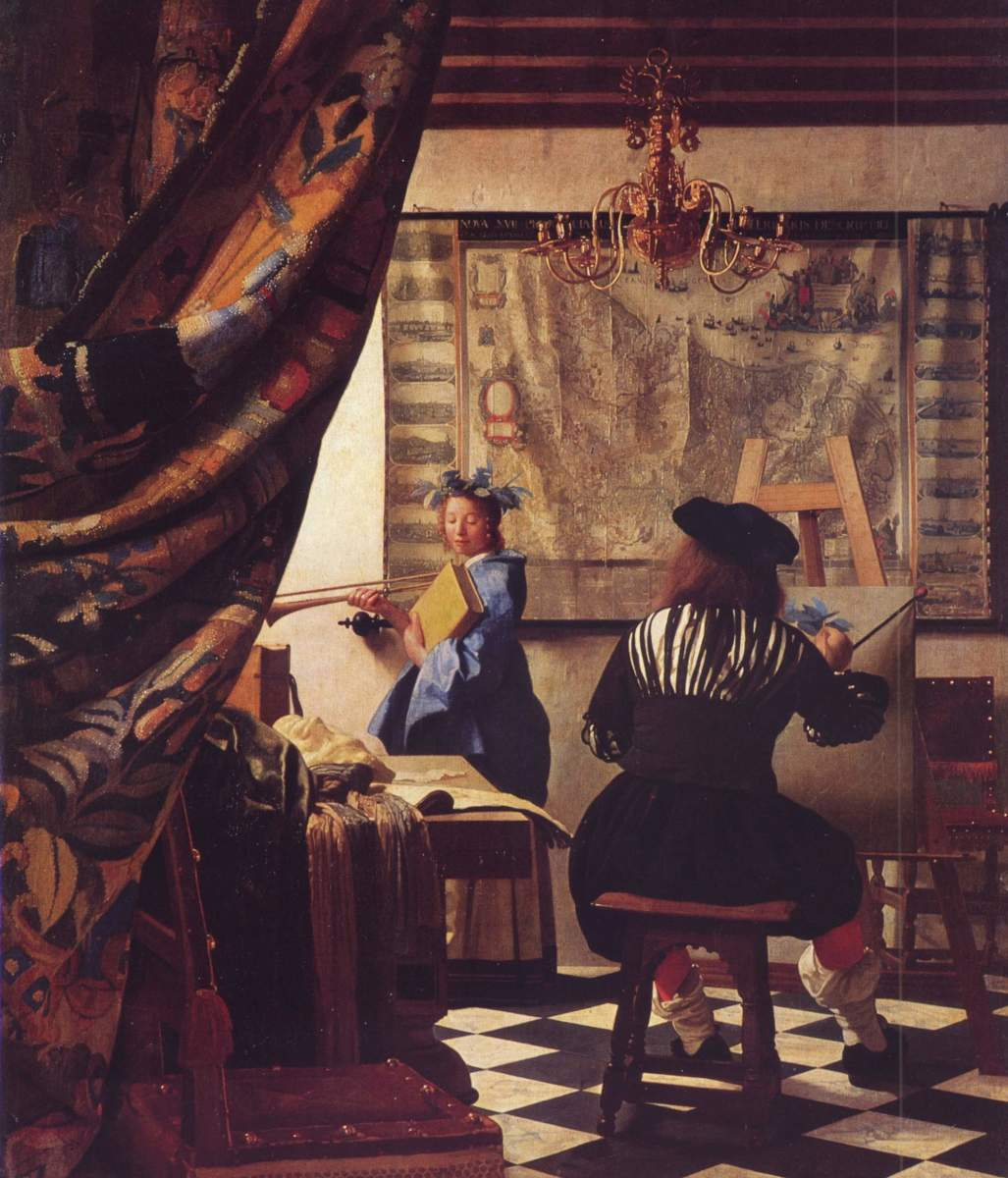 THE ART OF PAINTING BY VERMEER 1665