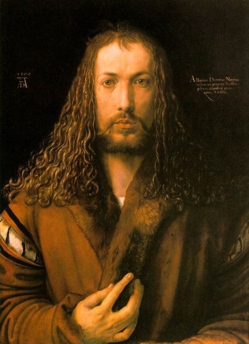 SELF-PORTRAIT BY DURER 1500