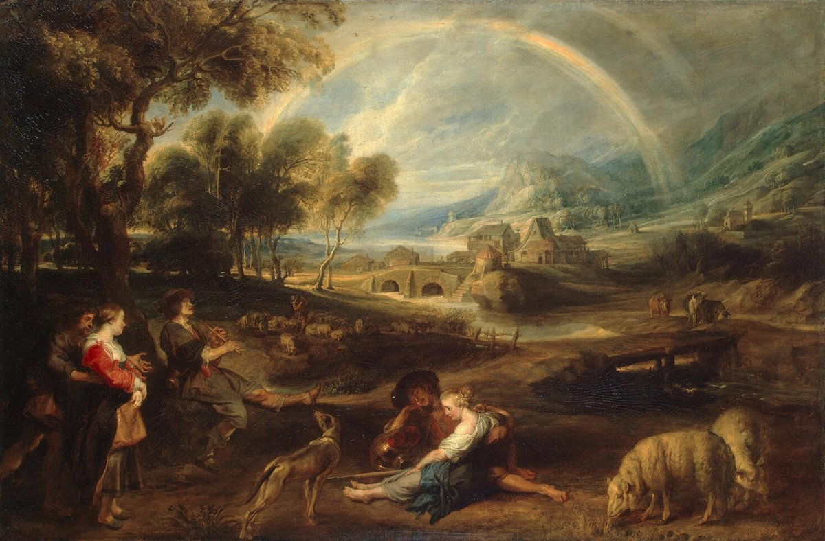 LANDSCAPE WITH A RAINBOW BY RUBENS 1636
