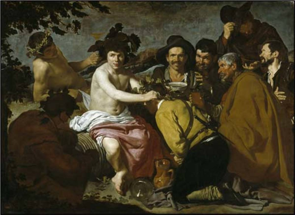 THE DRUNKS BY VELAZQUEZ 1628