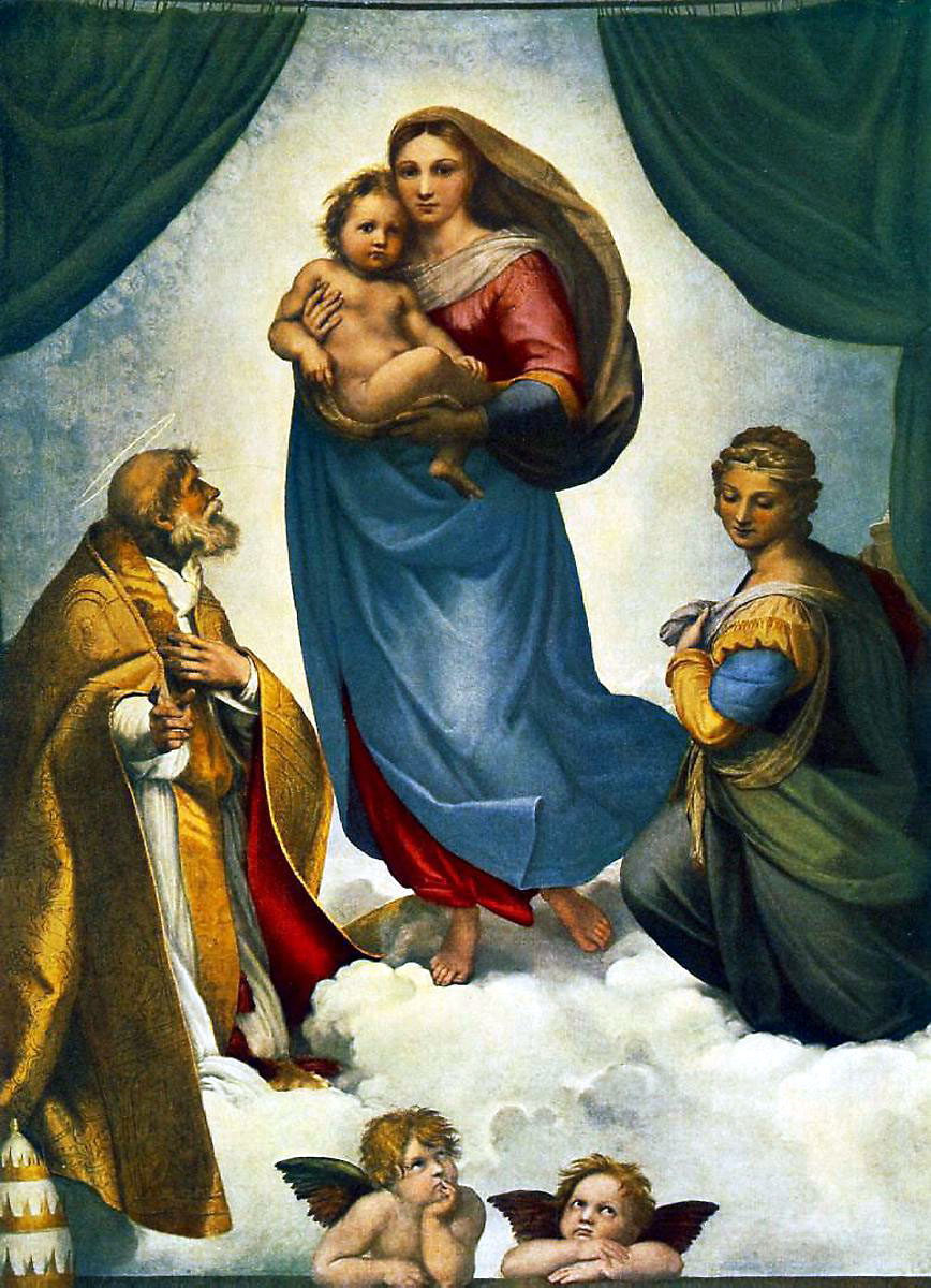 SISTINE MADONNA BY RAPHAEL 1513